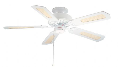 "Eurofans Belaire 42"" White Ceiling Fan 110095"
